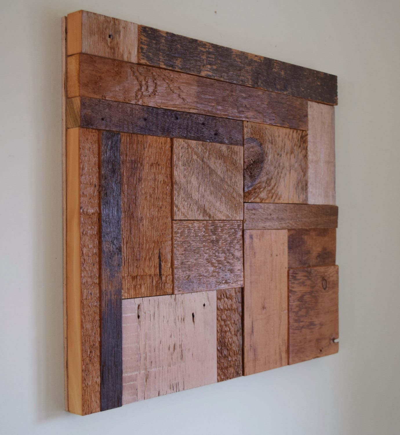 Rustic Barn Wood Wall Art From Reclaimed Old 1800s Barn Wood