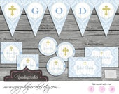 Baptism, Christening, Baby Presentation--Baby Boy--Party Package