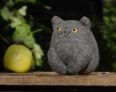 Cat Luc . Plush toy upcycled.