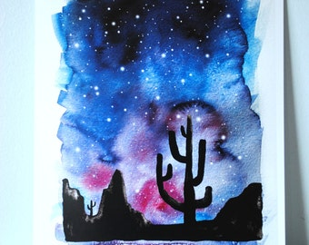 Desert Stars Watercolor Print