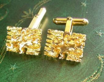 Christian Dior Cufflinks Vintage Golden Nugget Kaflinks Designer Unisex Fine Cuff links designer Jewelry mens cool gift hipster jewellery