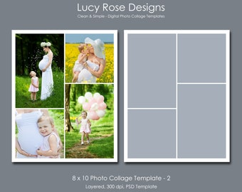 8 x 10 Photo Collage Template - 2