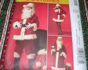 McCalls 5550 L to XXXL Santa and Mrs. Santa Costume Uncut