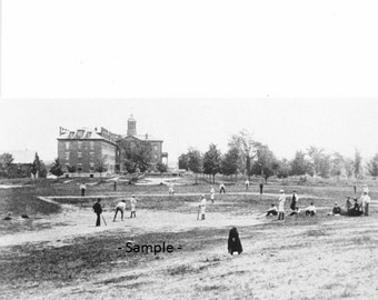 BATES COLLEGE Baseball Game in 1882 - Vintage Photo, Ready to Frame!