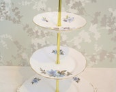 Blue Floral 3 Tier Cake Stand