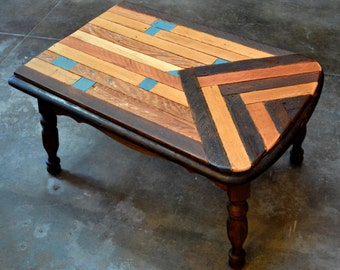 Teal coffee table etsy for Teal coffee table
