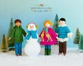 Happytown Play Set - Arthur, Alex and Zoe Build a Snowman  - PDF doll patterns