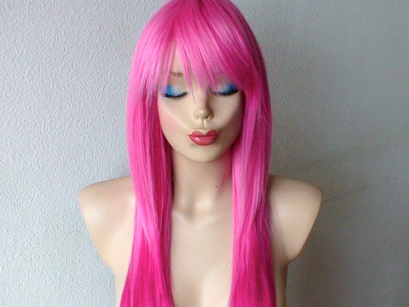 Pink Hot Pink Ombre Wig Long Straight Hair Wig By Kekeshop