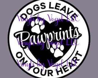 DOG pawprints decal