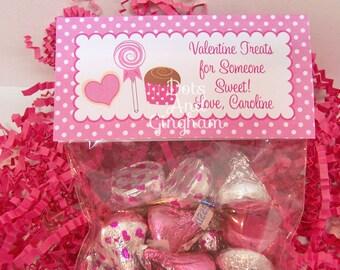 Valentine Treat Bag Topper-Valentine Sweets Treat Bag Topper-Printable Kids Valentine-Sweets Treats Bag Topper-Printable Valentine Candy