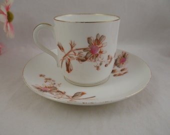 1890s  Hand Painted Delinieres and Co Limoges France Cappuccino Demitasse Teacup and Saucer Tea Cup- 2 available