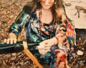 Vintage Janis Joplin at Woodstock photo, reprint