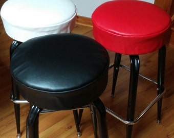 Round Bar Stool Slipcovers Cheap Bar Stool Cushion Covers