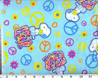 1 yard 33 inches, Snoopy Peace and Love