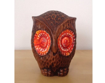 Large Retro Ceramic Owl Shaker