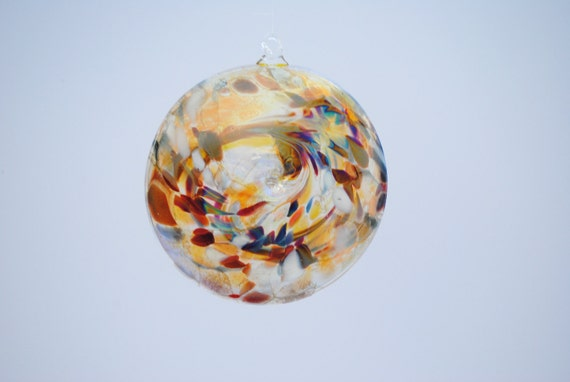 e00-65 Flat Iridescent Disc Ornament Translucent.