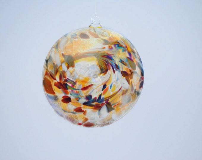 e00-65 Flat Iridescent Disc Ornament Translucent.