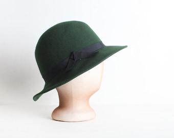 Women's Vintage Green Wool Hat