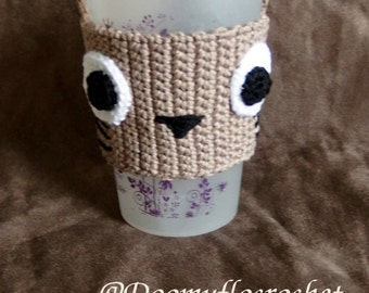 cotton coffee cozy cup so Totoro