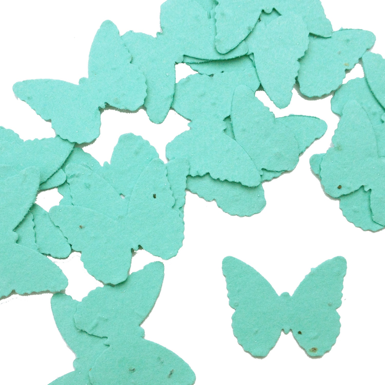 Aqua Blue Butterfly Shaped Plantable Seed Paper Confetti