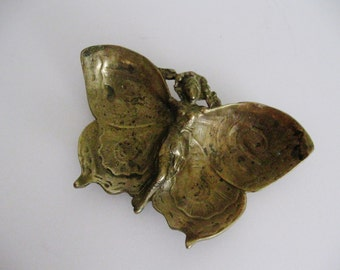 Vintage Brass Butterfly Dish,Brass Dish,Butterfly Dish,Art Nouveau Dish