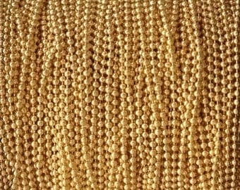 5FT(1.5mt) Gold Filled chain Ball chain 1.2mm Beads , gold fill ball chain , gold Ball Bead chain for jewellery making sold by foot by meter