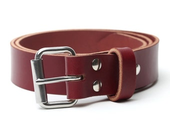 Leather Shop Belt | Oxblood