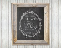Proverbs 31 Printable - Chalkboard, DIY