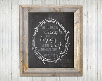Proverbs 31 Printable - Chalkboard, DIY