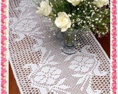 Table runner oval Duo Roses