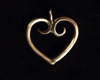 Heart fork pendant