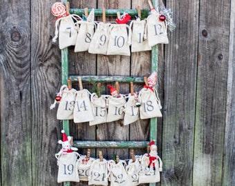 Advent Calendar Bags | Christmas Decor | Advent Bags | Advent Bags
