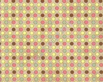 Multi Polka Dot on Brown - Let It Bee Collection by Shelly Comiskey - Henry Glass 6307-33 (sold by the 1/2 yard)