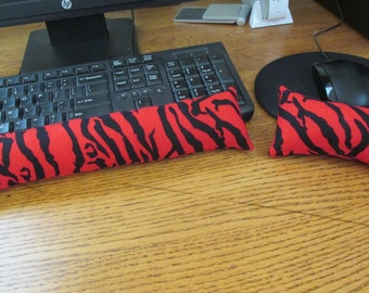 Red Wrist Rest, Re Zebra Wrist Supports, Keyboard and Mouse Wrist Rest