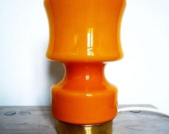 vintage 70's desk glass lamp light op art