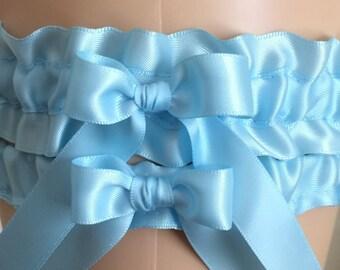 Wedding Garters, Bridal Garters, Bridal Shop Garters, Prom Garters, Blue Garters