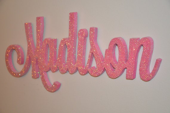 18 inch rhinestone name plaque bling decorative wall letters like this item negle Images