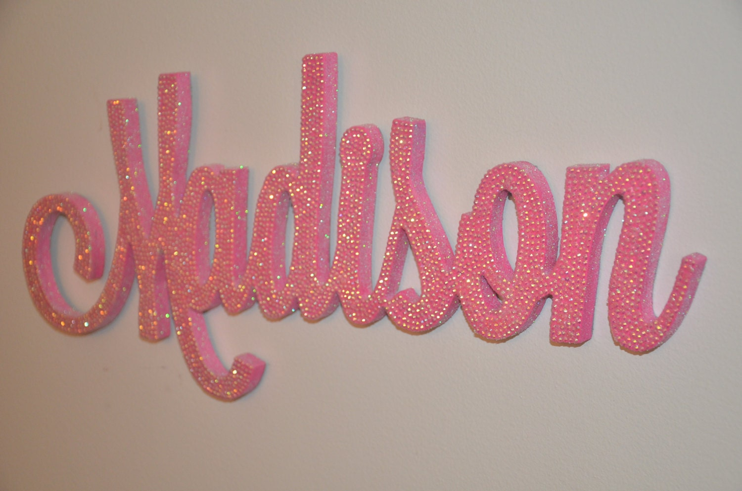 Decorative Wall Letters 18 inch rhinestone name plaque bling decorative wall letters