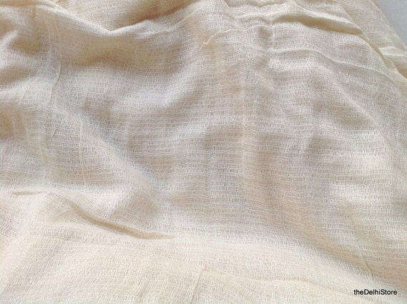 Soft Textured Rayon Gauze Fabric for Scarf / Drapes etc..