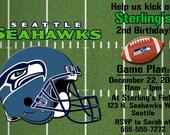 Seattle Seahawks Football Invitation or Thank you card
