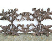 Rusty Cast Iron Architectural Salvage, Oak Leaves and Acorns