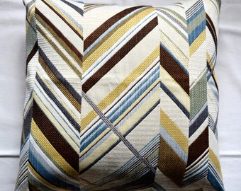 Chevron Pattern Patchwork Pillow Cover