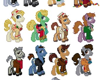 Doctor Whooves Cross Stitch Pattern (PDF Instant Download)