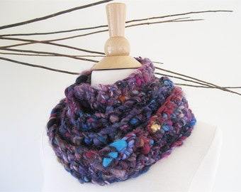 Art Yarn Scarf | Skinny Scarf | Unique Handmade Scarves | Extra Long Scarf | Wool Scarf