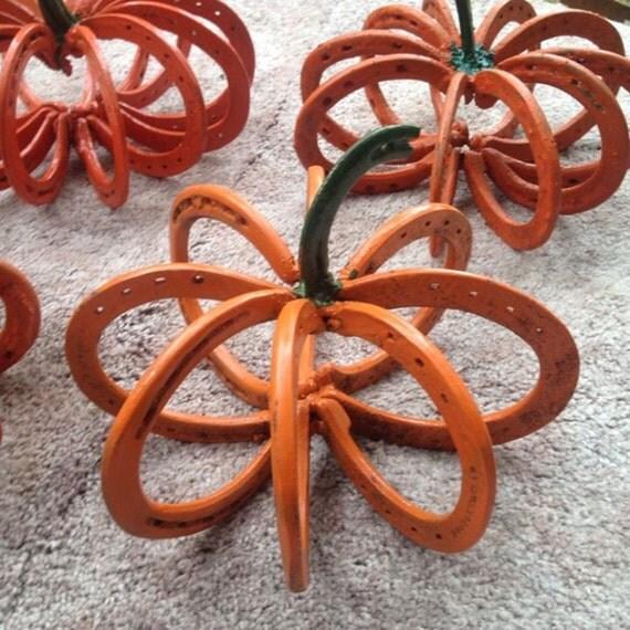 Items similar to horseshoe pumpkins on etsy for Wholesale horseshoes for crafts