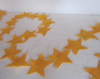 Felt Garland - 6 ft of felt stars strung together