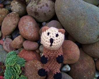 Otter Crocheted Stuffed Animal Children's Toy