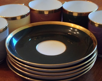 Minton Five Demitasse Sets - Assorted Colors