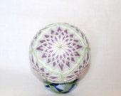 """Custom Order For Kiry. Japanese Temari Ball """"Kiku"""" in Lavender"""