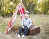Play Tent Photography Prop Tent Frame plus Red White and Blue Patchwork Cover Kids Photo Props Outdoor Red White and Blue Photography Props